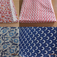 Clothing Fabric Hand Block Printed Designer