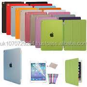 Ultra Slim Tri-Fold PU Leather with Crystal Hard Back Smart Stand Case Cover for iPad Air 1 Air 2