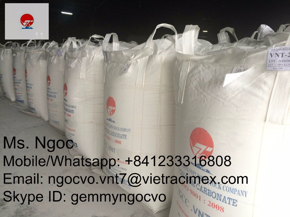 Uncoated calcium carbonate powder for paint, coating, paper, plastic, rubber,polymer...