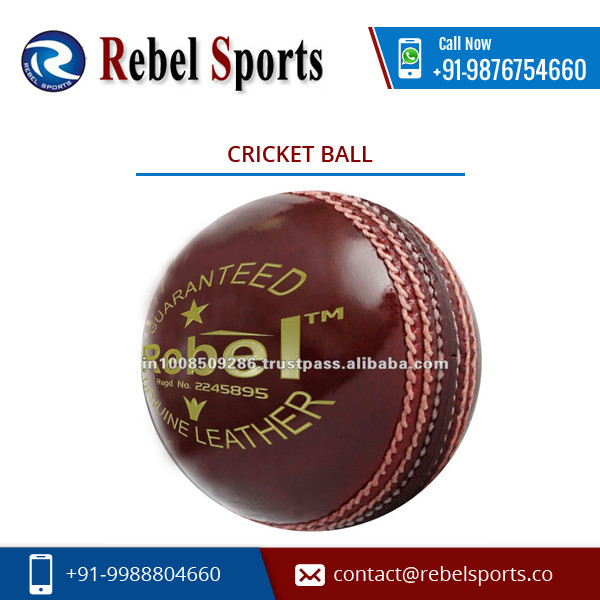 High Grade Accurate Shape Cricket Ball for Wholesale Buyers