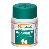 Himalaya Anxocare VET Tablets for Pets - Behaviour Modifier, Controls Anxiety, Stress, Agression - 60 Tablets/Bottle