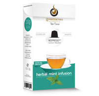 Nespresso(R) compatible tea capsules: 10 Herbal Mint Infusion by Gourmesso Tea Time