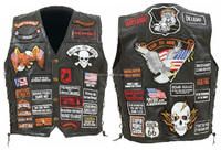 motorcycle leather vest patches