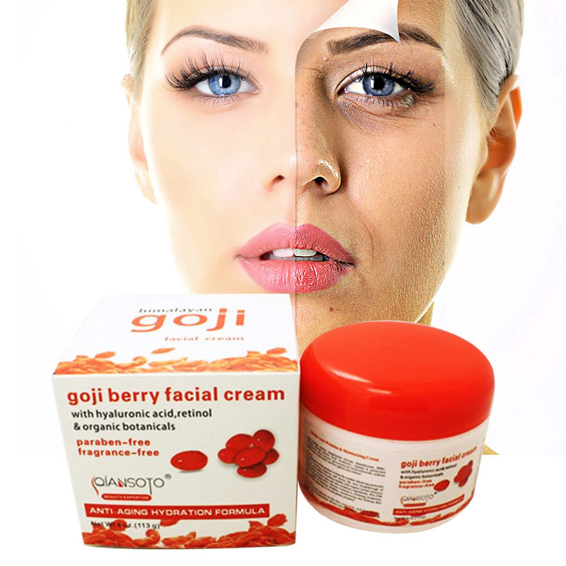 Goji Beries Facial Cream and Eye Cream Whitening Skin Care Anti Aging Wrinkle