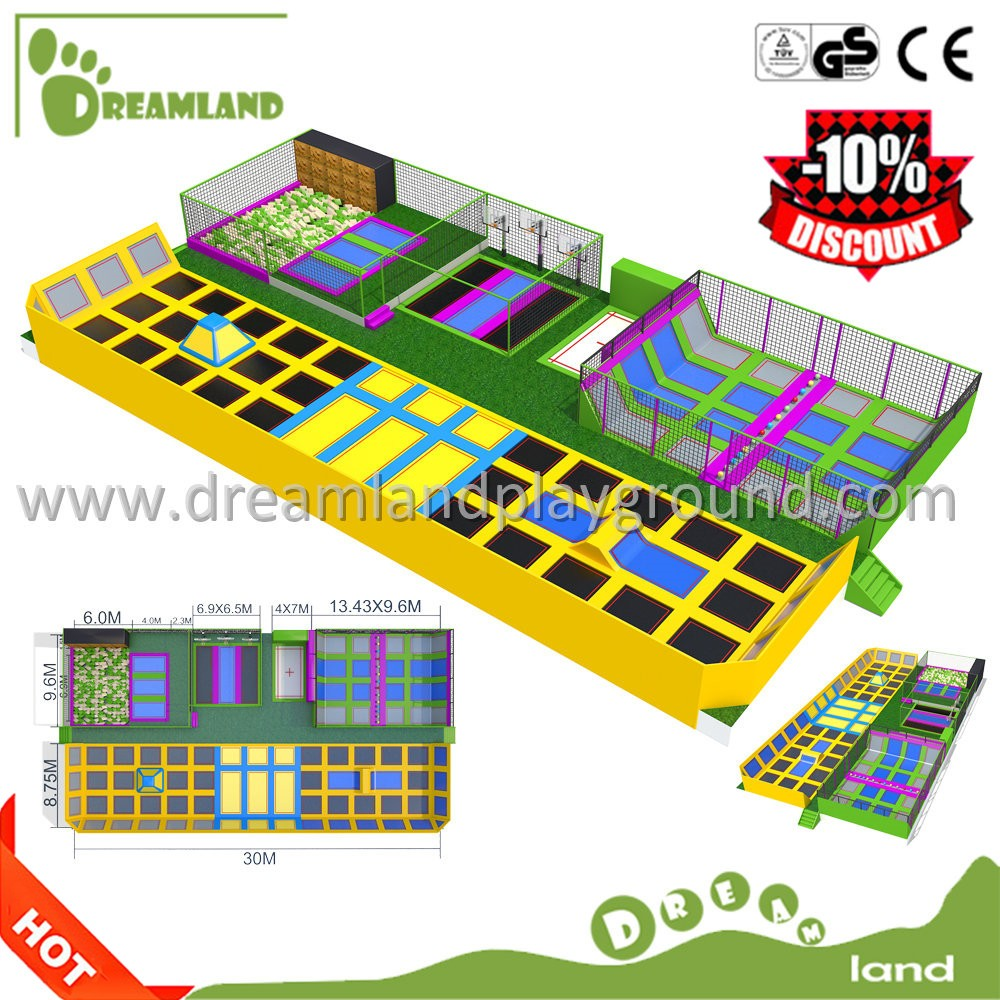 Kids gym fitness equipment indoor jumptek trampoline parks for children,commercial trampoline park with air bag