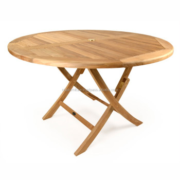 Teak Round Folding Table Outdoor