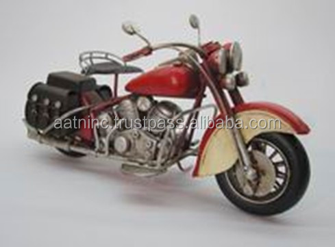 Antique Metal Carft Motorcycle Model for Home Decoration and Business Gifts