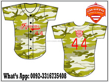 camo sublimated Baseball Jerseys / baseball jersey / dhirk sportswear