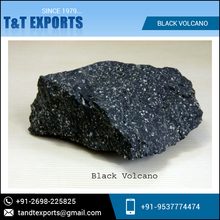 Superior Quality High Grade Selling Black Volcano Stone at Low Rate