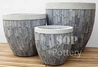 Egg shape Mosaic Cement Pot / planter