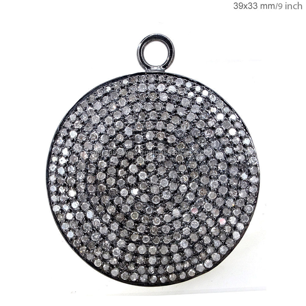 Oval shape diamond pave connector pendant wholesale fine jewelry 925 oval shape diamond pave connector pendant wholesale fine jewelry 925 sterling silver chain necklace aloadofball Images