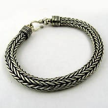 Antique Single Oxidized !! Plain Silver 925 Sterling Silver Bracelet, Sterling Silver Jewellery, India Silver Jewellery Supplier
