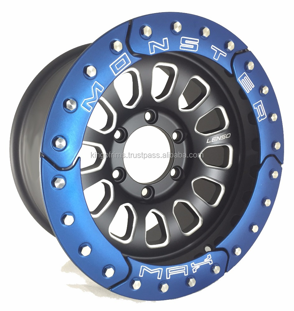 New! 16 inch Original Lenso Max Monster (Blue Plate)