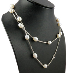 Designer Necklace Pearl 925 Sterling Silver Gemstone Necklace, Indian Sterling Silver Jewelry