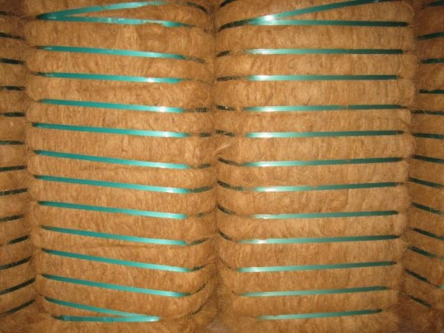 Coconut fiber for making mattress
