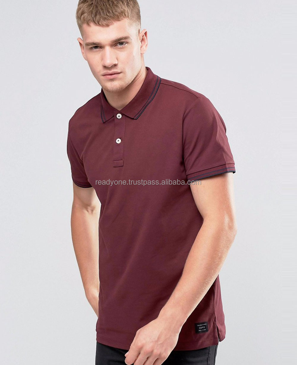 Fashion Side Zip Open Shirt Brands Polo Collar T Shirt Men