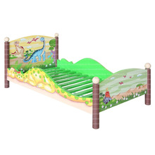 Children special gorgeous look Dinosaur Kingdom Toddler Bedroom Wooden Style Bed For Your Little Baby.