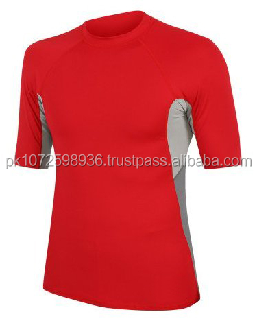 Compression sportswear Short swim rash guard sun shirts