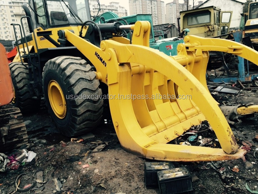 2008 Komatsu wheel loader WA380 pay loader WA380-3 with timber grab