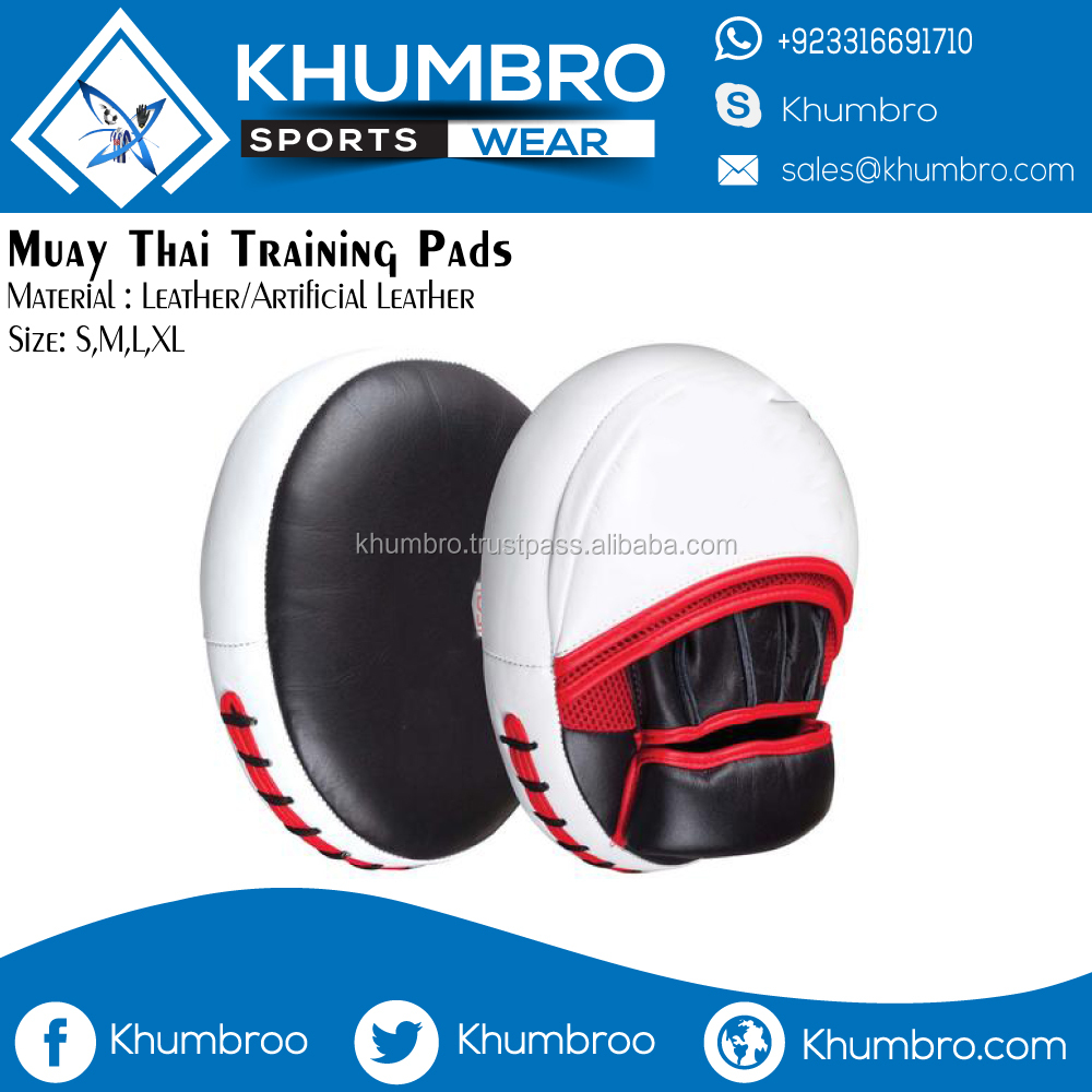 Leather Curved Kick Muay Thai Pads