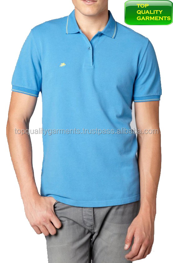 Baby Blue Boys Mens Polo Shirt Pique Casual Stretch Collar Plain Embroidered Short-Sleeve High Quality T-Shirt OEM ODM Customize