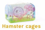new premium Transparent plastic X modeling Soft plastic Handle hamster cage