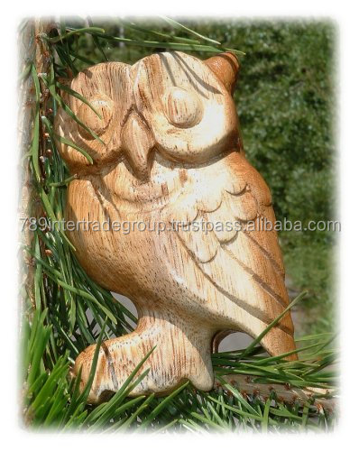 100% Natural Wooden Hoot Owl Whistle, no painting, Hooting Owl Whistle Toy - Hand Carved - Really Hoots!