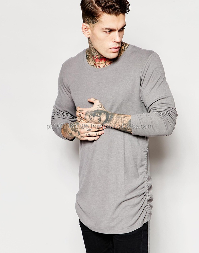 Longline Cut Shirt for Men's