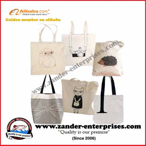 Printed shopping bags tote bags