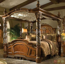 King size Canopy Bed with great look and very colourful /KIig Size solid wood canopy bed.