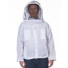 Ventilated Bee Jacket With Fencing Veil/Ventilated Jacket Three Layer beekeeper jacket Cool Mesh Bee Jacket