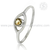 Appealing Citrine Gemstone Indian Design Wholesale Silver Jewelry Ring 925 Sterling Silver