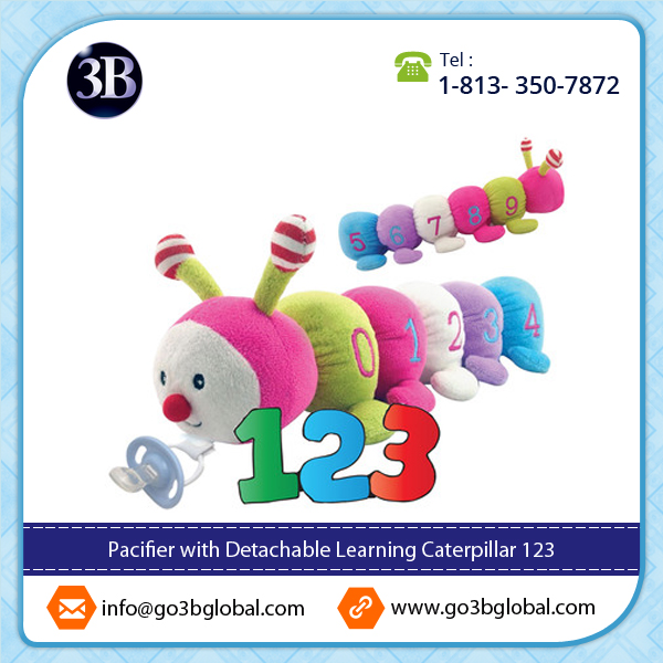 CuddlesMe FDA Pacifier with Learning Caterpillar Toy Hot Selling