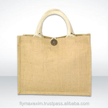 Strong handle natural jute bag