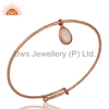 Rose Chalcedony Gemstone Womens Bangle Rose Gold Plated Silver Designer Bangles Manufacturer of Gift Jewelry
