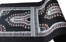 "Dashiki African Pattern Print Thick Thread Cotton Fabric DIY Projects 70"" x 40"""