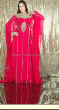 Moroccan Kaftan Dress Abaya Jilbab Islamic Kheleeji jalabiya/LATEST AND POPULAR NEW MODERN DESIGN WOMEN CHOICE PINK KAFTAN DRESS