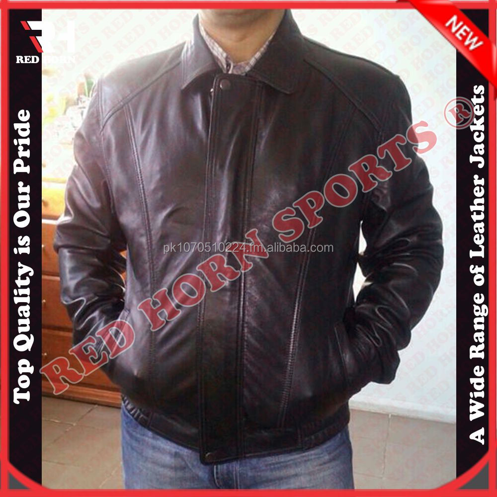 Red Horn Men's Custom Leather Jacket , Wholesale cheap jacket,Custom Designs Can be Accepted
