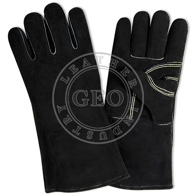 Wholesale Construction Safety / Long Welding Gloves / Leather Work Gloves