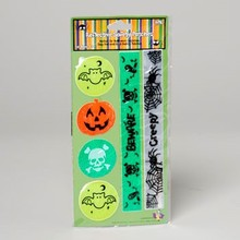 REFLECTIVE HALLOWEEN STICKERS 4 ROUND/2STRIPS POLYBAG/INSERT #G89973