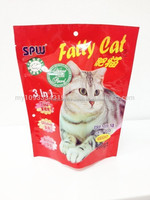 3 side seal packaging lovely cat food bag,cheap plastic bag for cat treat,double side printing plastic bag for pet food