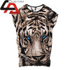 Unisex New Top 100%cotton/3 d t shirt custom printing pattern digital sublimation dry fit for Women