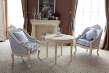 baroque armchair With Table / living room classic armchair / french style armchair