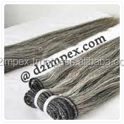 Natural Grey Raw Indian Hair Long Lasting Indian Human Hair