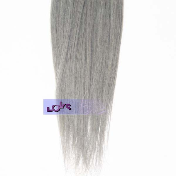Natural unprocessed malaysian Straight Silver Grey ombre color virgin human hair Wholesale For Cheap+ Free Shipping