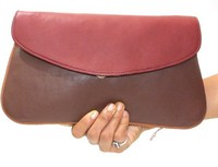 Genuine Lambskin Leather Clutch Evening Bag Made To Order Sheep Nappa