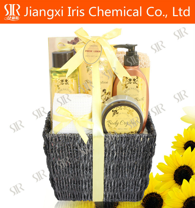 Hotel amenity Kit , Toiletry travel kits sunflower perfume