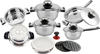 Royalty Line - 16 Pieces Stainless Steel TURBO Cookware Set