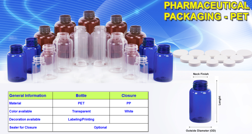 100cc 150cc 200cc 225cc 250cc 300cc 350cc 400cc 450cc 500cc PET HDPE packaging bottle pharmaceuticals-Duy Tan Plastics Vietnam