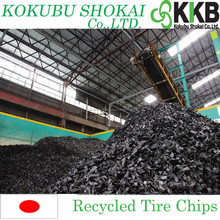 2 inch shredded tire chips, Recycled Tire Chips for Fuel from Japan